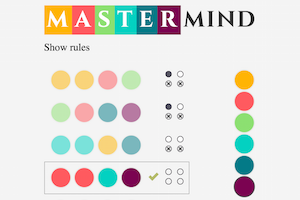 Mastermind game in React and ES6